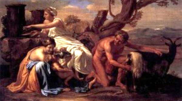 800px-Nicolas_Poussin_-_The_Infant_Jupiter_Nurtured_by_the_Goat_Amalthea_-_WGA18300-300x217